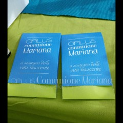 Stand di presentazione ONLUS COMUNIONE MARIANA TUTTI I DIRITTI RISERVATI
