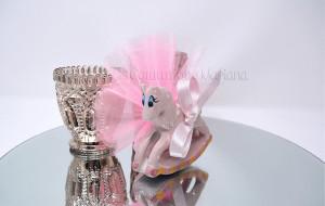 Cavalluccio in ceramica decorato a mano e tulle - Collezione Ceramiche di Vietri - €7.00