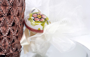 Tappo in ceramica decorato a mano e tulle - Collezione Ceramiche di Vietri - €5.00