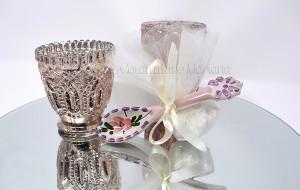 Cucchiaini in ceramica decorati a mano, con tulle e confetti - Collezione Ceramiche di Vietri - €5.50